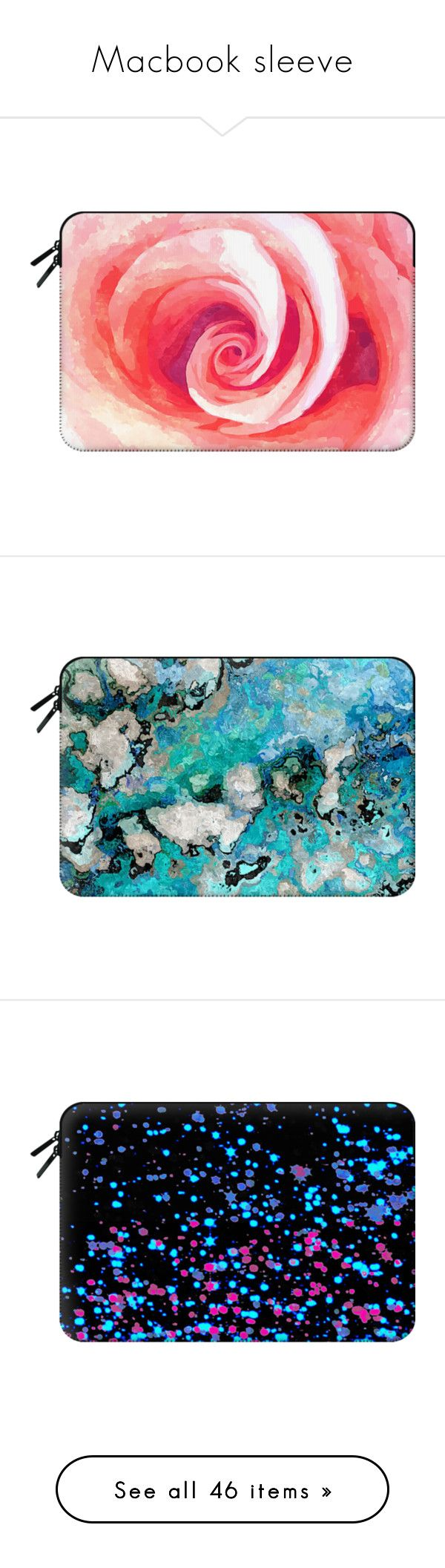 """""""Macbook sleeve"""" by mariami-princess2013 ❤ liked on Polyvore featuring accessories, tech accessories, macbook sleeve, macbook laptop case, laptop sleeve cases, macbook pro laptop case, bags, clutches, fillers and cactus"""