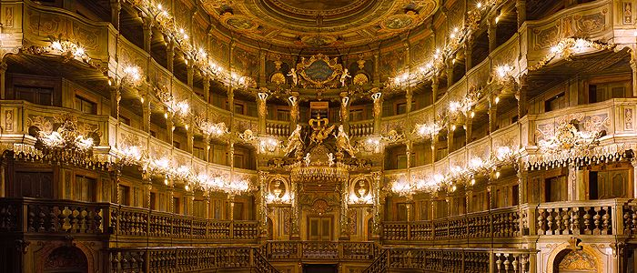[Bavaria] Bayreuth. Margravial opera house, with the prince's loge.