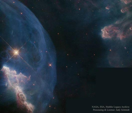 Primer plano de la nebulosa de la Burbuja | Imagen astronomía diaria - Observatorio