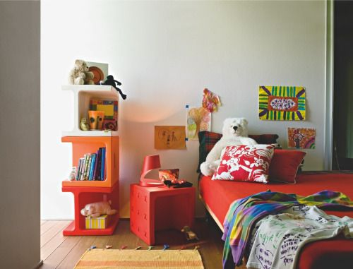 Calligaris #interior #bedroom #red #colorful #kid