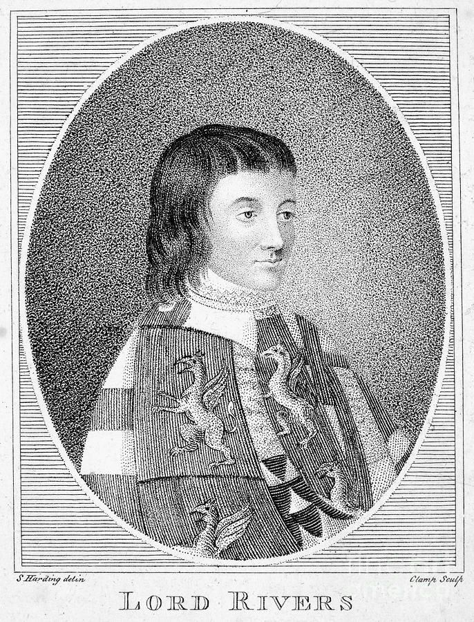 Richard Woodville,1st Earl Rivers, the second husband of Jacquetta of Luxembourg, a father of Elizabeth Woodville, future wife of Edward IV.He met a 20-year old Jacquetta when she lost her first husband in France and was to return to England. A 30-year old Richard, knight of Henry V and the most beautiful man of that time,had to deliver her there.They fell in love, and married secretly.Their fruitful marriage brought 16 children and a lot of enemies. During the Wars of Roses he was beheaded.