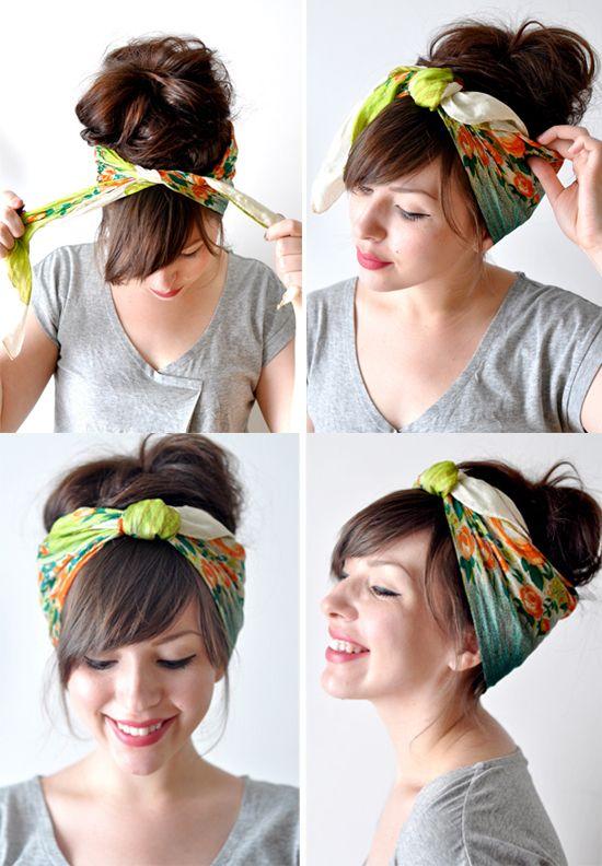cute!Head Scarfs, Scarf Tutorials, Wear A Scarf, Scarves Ties, Lazy Hair Days, Bad Hair, Head Scarf Tutorial, Cute Hair, Hair Scarf