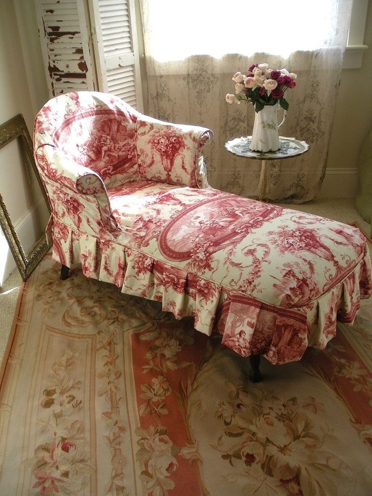 1133 best images about toile de jouy on pinterest for Chaise lounge cover pattern