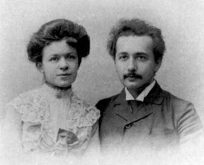 Mileva Maric and her famous husband, Albert Einstein. He was a professor of physics in Prague, 100 years ago this year.
