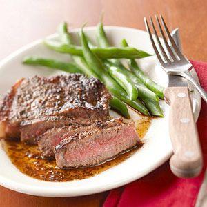 herbed steak wtih balsamic reduction