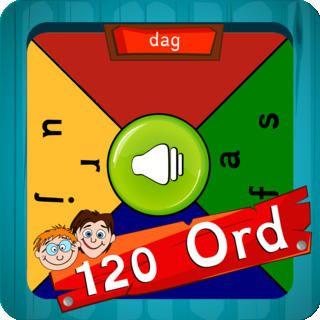 Didaktisk app - 120 Ord -Multiplayer er en app, hvor eleverne flere mod hinanden kan træne de 120 mest almindelige ord.