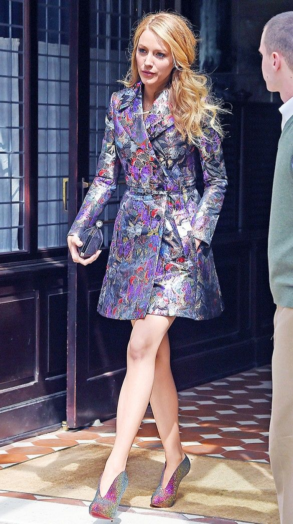 Try a printed coat in glittering brocade if you're looking to turn some heads this fall.