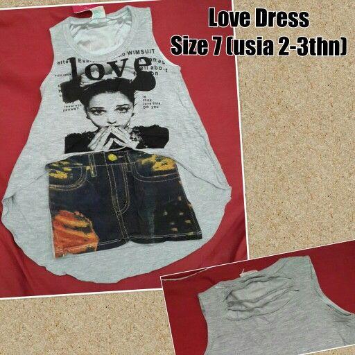 READY STOCK KIDS DRESS  KODE : LOVE DRESS PRICE : Rp.100.000,- DETAIL SIZE : - Size 7 (LD 28cm, panjang depan 27cm, panjang belakang 51cm) MATERIAL : Kaos spandex stretch  FOR ORDER : SMS/Whatsapp 087777111986 PIN BB 766a6420 Facebook : Mayorishop  #dressanak #funkydress #dressanakimport #readystock #mayorishoponline #bogor