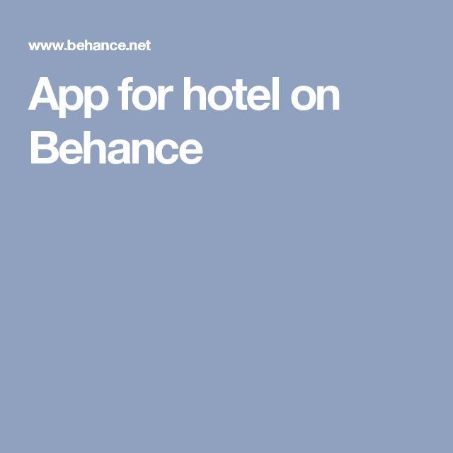 App for hotel on Behance