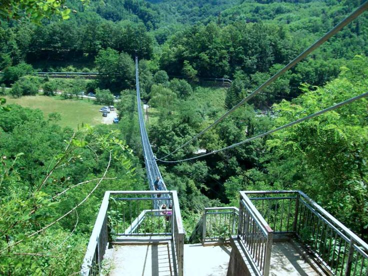 San Marcello Pistoiese (Pistoia, Italia) - Ponte sospeso