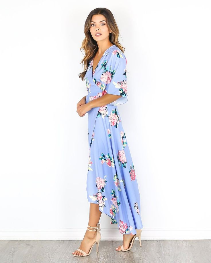 Our gorgeous Almost Over Wrap Maxi Dress is a MUST for the Summer season! We love the sweet silhouette, with adorable short sleeves, a true wrap style and chic floral print. This best selling style fl