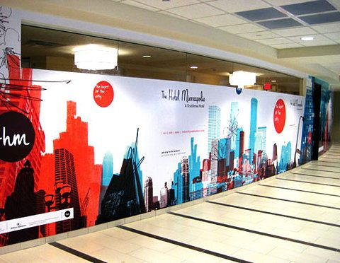 25 best ideas about hoarding design on pinterest for Corporate mural