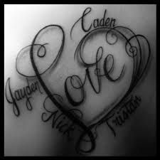 Image result for kids name tattoo designs