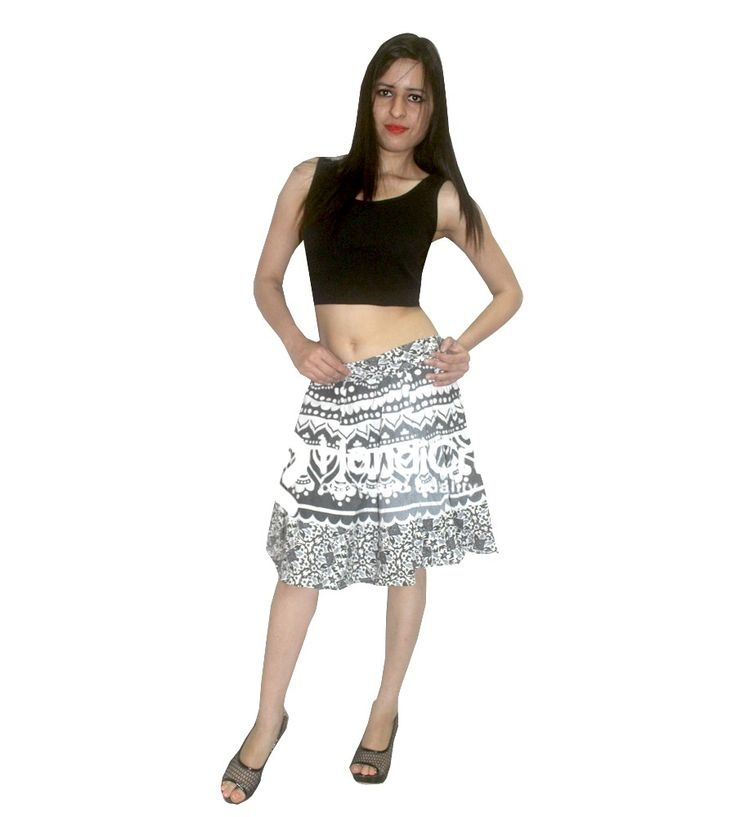 Summer printed designer skirt for girls