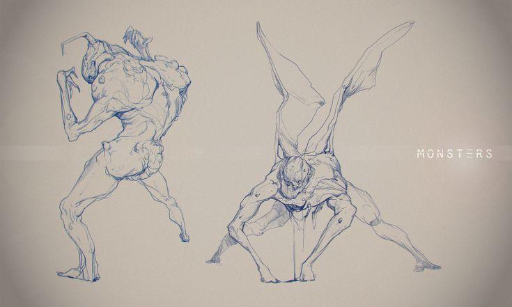 Sketches 2, Cosmin Podar on ArtStation at https://www.artstation.com/artwork/RDQNr