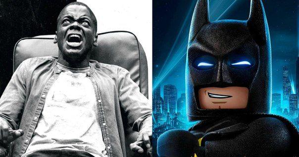 Две недели продержался «Лего. Фильм: Бэтмен» в топе бокс-офиса США и теперь уступил место новичку ‒ сатирическому хоррору «Прочь» Джордана Пила, заработавшему за дебютный уик-энд 30,5 миллионов долларов. Критики тоже с восторгом приняли ленту ‒ по данным