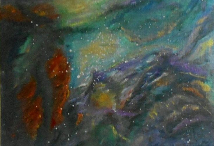 Nebula Oil painting
