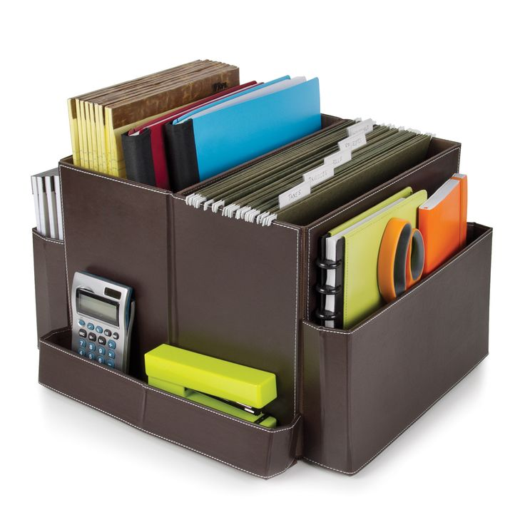 """Features:  -Essentials collection.  -Does not spin.  Product Type: -Supplies Organizer.  Material: -Plastic.  Color: -Brown. Dimensions:  Overall Height - Top to Bottom: -12"""".  Overall Width - Side to"""