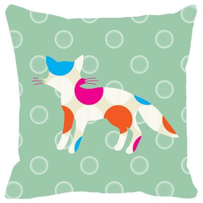 Leaf Designs Multicoloured Dotted Cat Cushion Cover Cushion Covers on Shimply.com