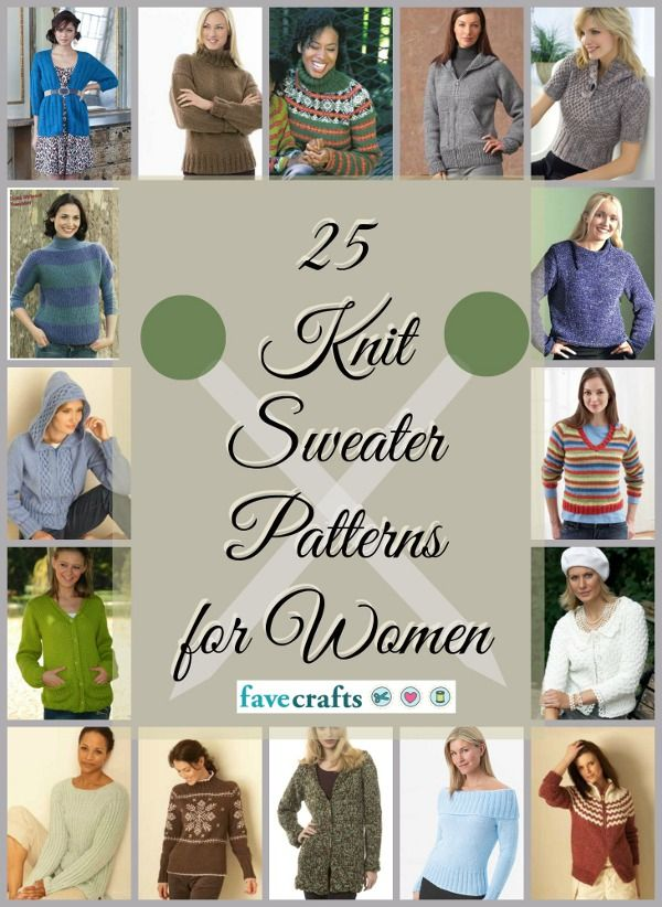 25 Free Knitted Sweater Patterns for Women | FaveCrafts.com