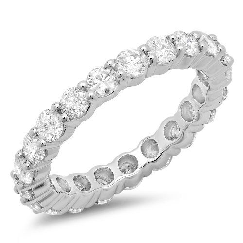 New! 2.50 CT 14k White Gold Round Diamond Eternity Wedding Band Ring #EngagementRings https://www.eandcweddings.com/product/2-50-ct-14k-white-gold-round-diamond-eternity-wedding-band-ring/