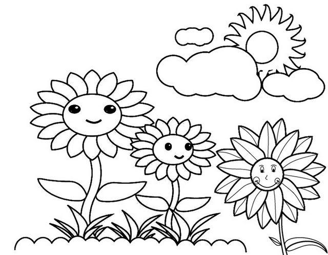 Sunflower Coloring Page Sunflower Coloring Pages Free Coloring Pages Flower Coloring Pages