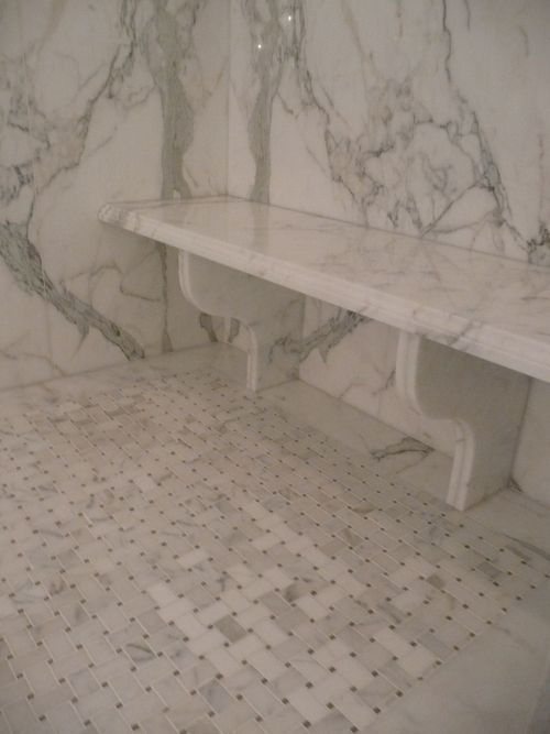 shower bench...lovely legs!