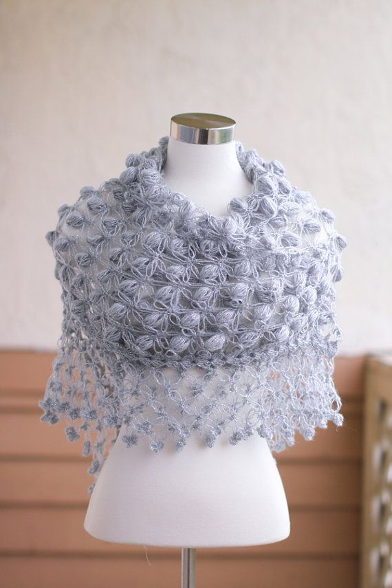 Crochet Shawl Bridal shrug and boleros Winter by MODAcrochet