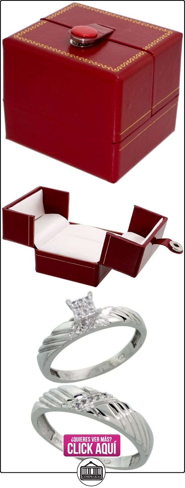Revoni - Anillo de compromiso de oro blanco  ✿ Joyas para hombres especiales - lujo ✿ ▬► Ver oferta: http://comprar.io/goto/B005NW3W0K