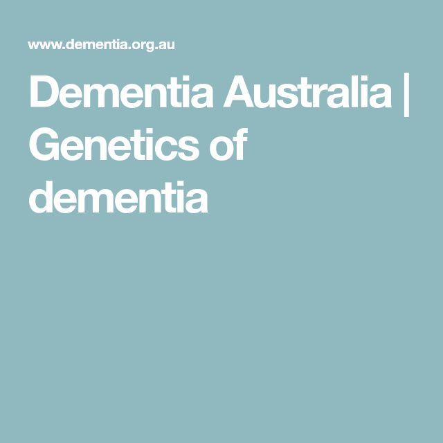 Dementia Australia | Genetics of dementia
