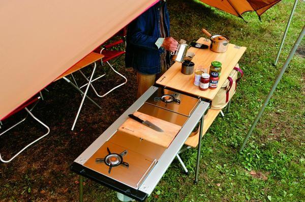Snow Peak modular camp kitchenCamps Ideas, Peaks Camps, Peaks Modular, Camps Gears, Modular Camps, Snow Peaks, Camps Kitchens, Products, Camps Site