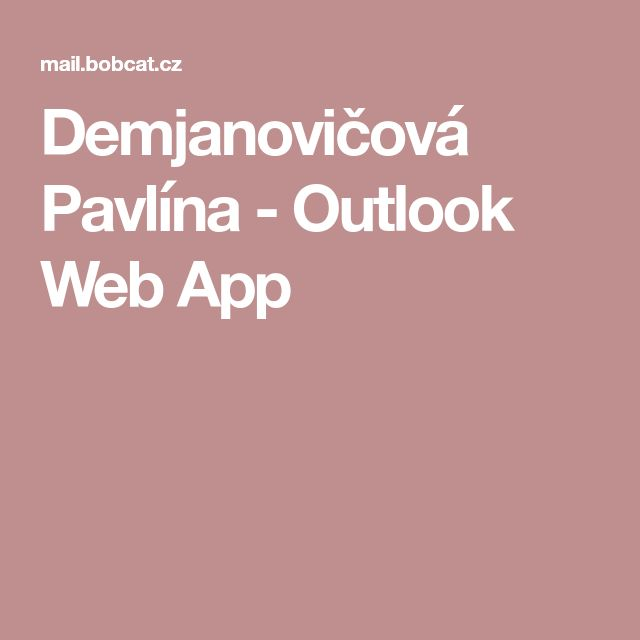 Demjanovičová Pavlína - Outlook Web App