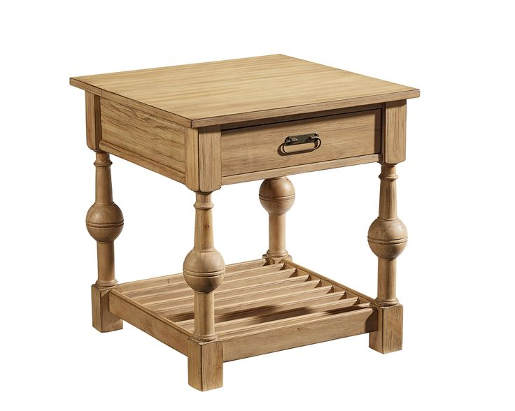 JS  Available At Wolfe Furniture State College Louver End Table   Magnolia  Home