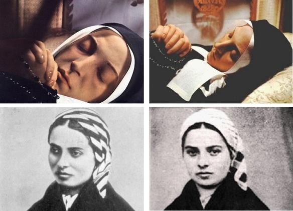 Saint Bernadette of Lourdes. Preserved body.