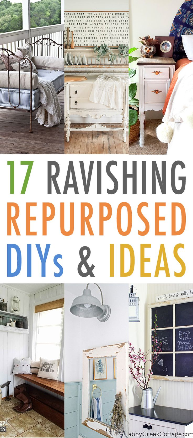 17 Ravishing Repurposed DIYS and Ideas