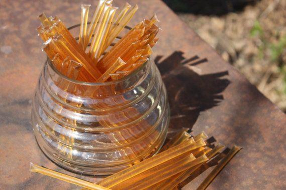 Honey Sticks Pure Wildflower Honey - 50 Honey Filled Sticks. Great for Honey Wedding Favor on Etsy, $10.00