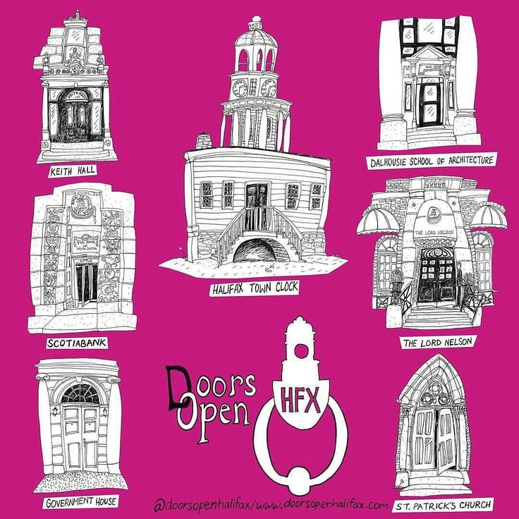 TODAY & TMRO @DoorsOpenHfx / @doorsopenhalifax celebrates the built environment. . Over 30 venues: open to the public free of charge for 2 days from 10am - 4pm. The public will be able to experience buildings of worship social justice national security educational facilities new developments & iconic cultural and heritage buildings. This years event will pay special adage to the Halifax Explosion. . VENUES: . Alexander KeithsBrewery 1496 Lower Water St. . Keith Hall 1475 Hollis St. . Armdale…