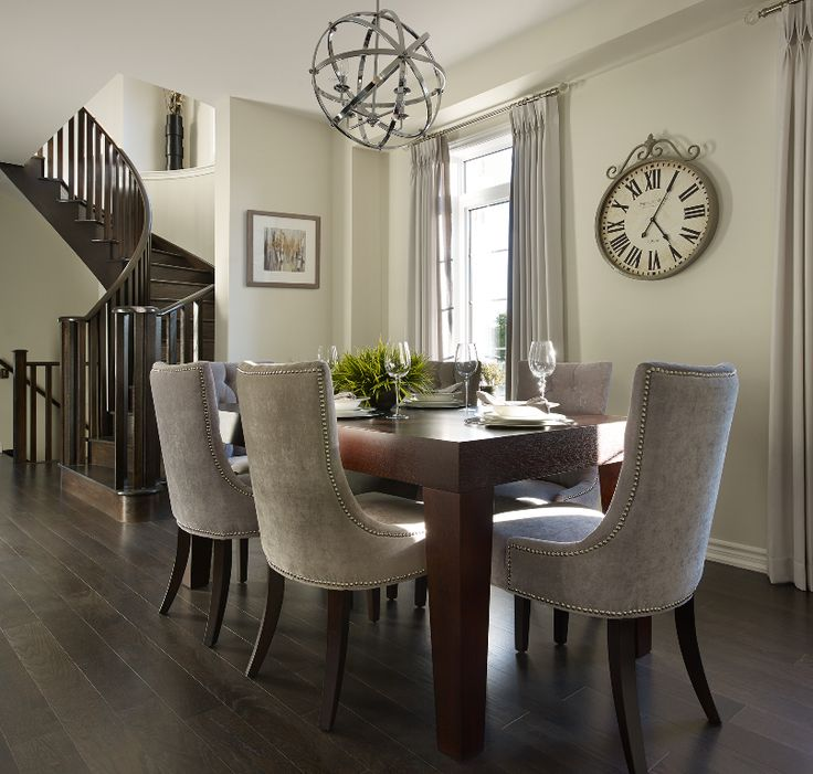 The gorgeous dining room at our Enclaves of Upper Canada model home