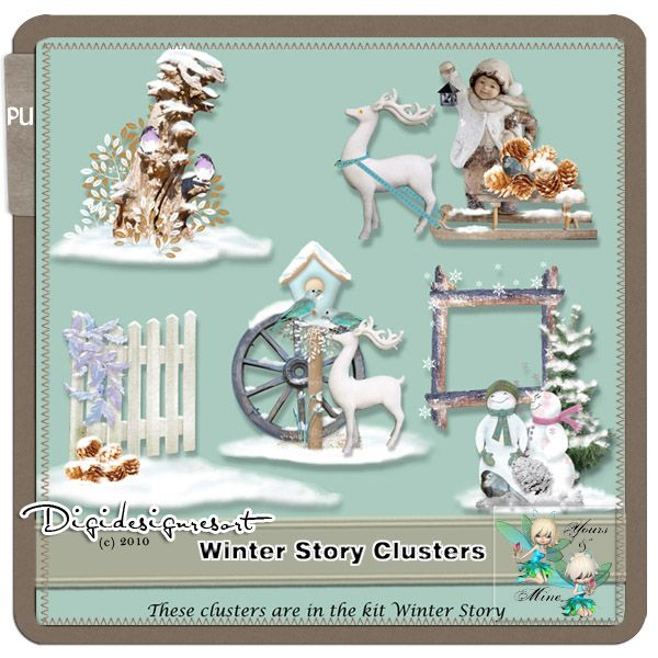 If you have bought the kit Winter Story be aware these clusters are in the kit. These are beautiful big clusters, you can use them to make cards to decorate your home or your childrens rooms. They are perfect to print and decorate boxes or books.