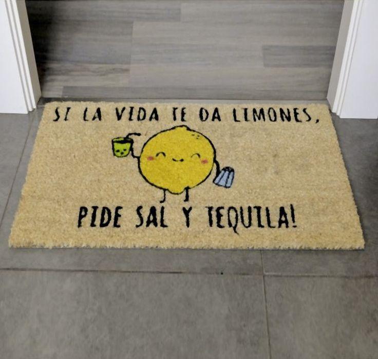 felpudo original y divertido limones