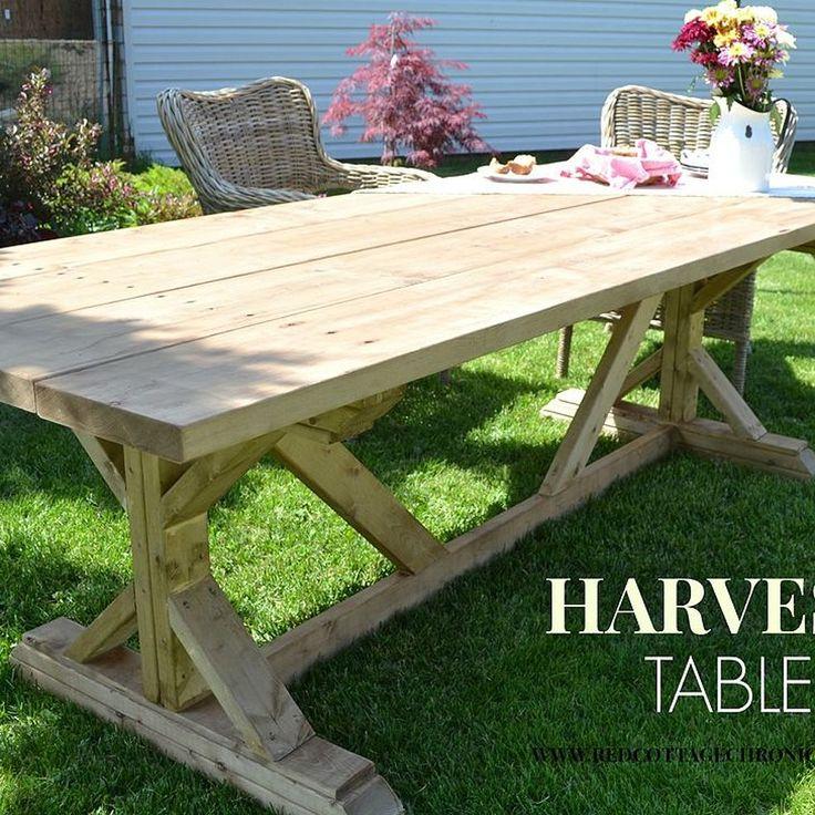 Best 25 Outdoor Harvest Table Ideas On Pinterest