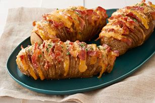Cheesy Bacon Hasselback Potatoes Recipe - Kraft Recipes