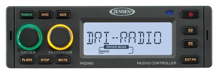 JENSEN PADIN5 PA/DVD Controller | JENSEN Heavy Duty ...