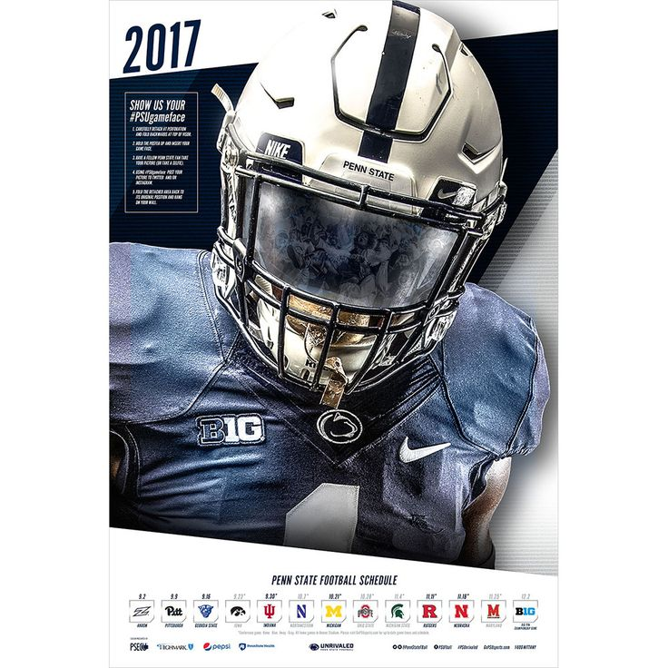 2017 Penn State Football Schedule Poster