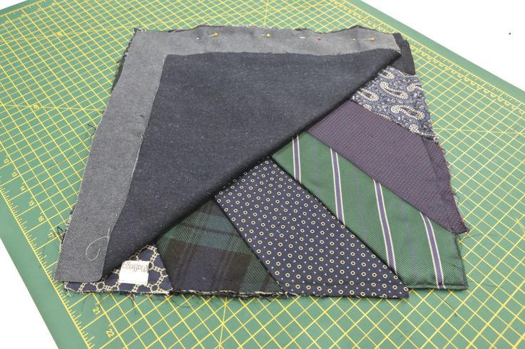 The Maflingo woven label tacked in place prior to stitching each side of the cushion together