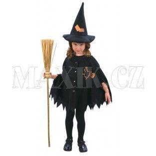 Dětský kostým Malá čarodějka 92-104cm