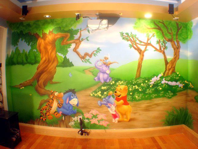 Marvelous Winnie The Pooh Wall Mural   Interior Saga Part 18