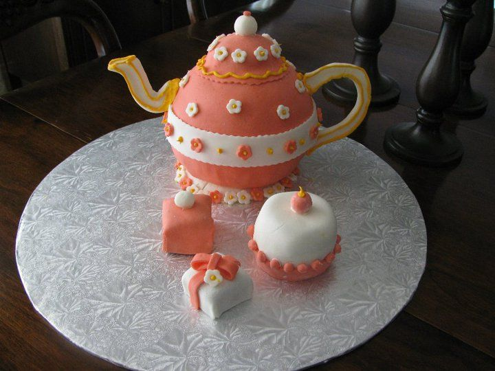 teapot cakes Teapot cake with buttercream and fondant ...