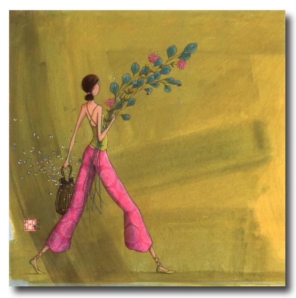 BOISSONNARD Le bouquet champêtre