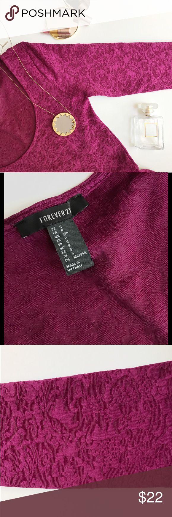 Wine Color Dress Adorable long sleeve dress from Forever 21, used once. Forever 21 Dresses Long Sleeve